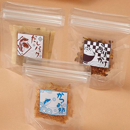 チャック付透明袋 食品パッケージ
