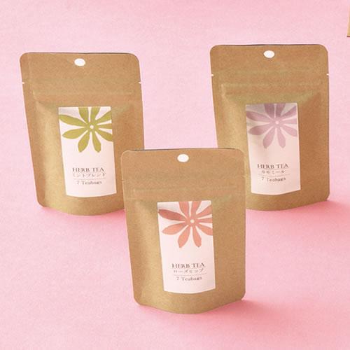 洋風な紅茶・ハーブティのパッケージ