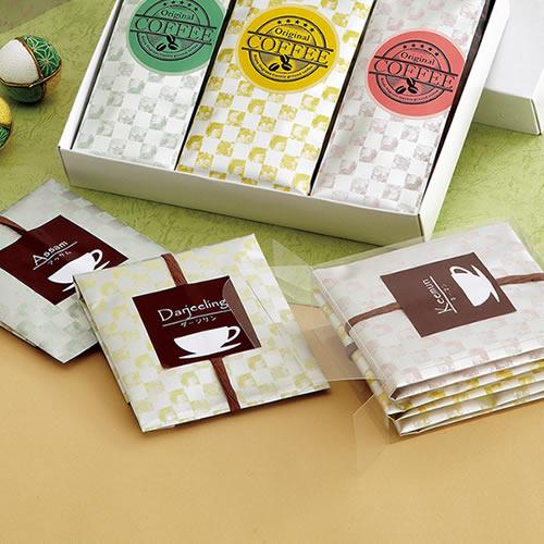 ゴージャスな紅茶・ハーブティのパッケージ