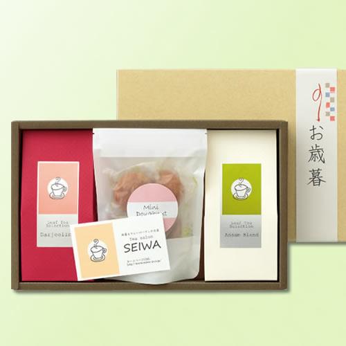 カジュアルな紅茶菓子セットのお正月ギフト