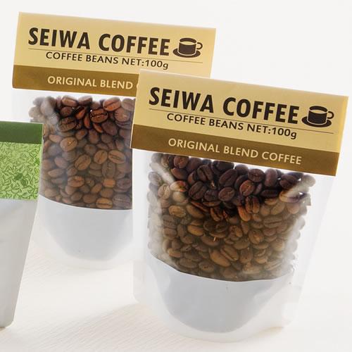 シンプルなコーヒーのパッケージ