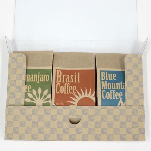 ナチュラルなコーヒーの通販用梱包
