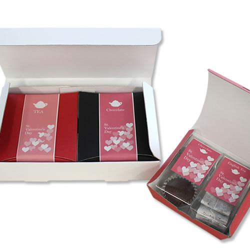かわいいな紅茶菓子セットのバレンタイン