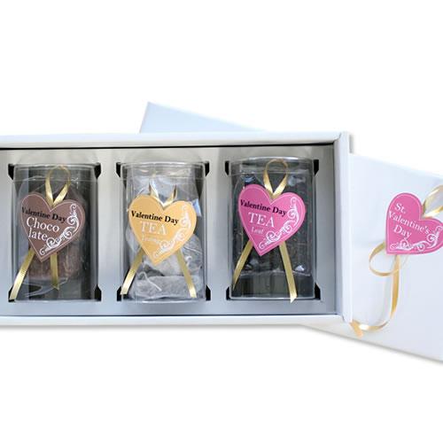かわいいな紅茶菓子セットのバレンタインラッピング