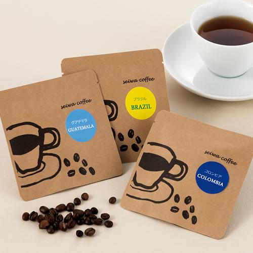 カジュアルなコーヒーのパッケージ