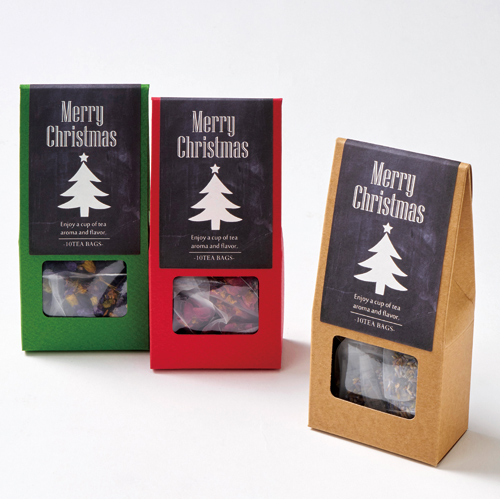 かわいいな紅茶・ハーブティのクリスマスラッピング