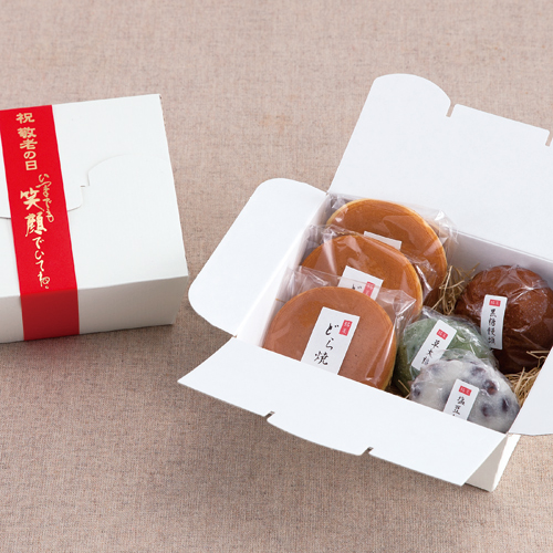 シンプルな和菓子の敬老ギフト