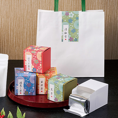 和風なお茶のパッケージ