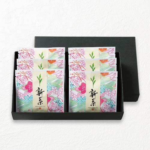 新茶ギフト 三方袋×6