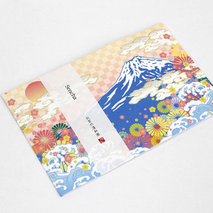 富士山のイラスト素材を使ったパッケージ