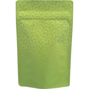 70〜100gチャック付スタンド袋 緑