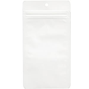 チャック付AL平袋 白 穴あき110×205