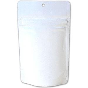 チャック付ALスタンド袋 白 穴あき90×155