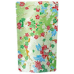 花友禅スタンド袋 緑 120×200