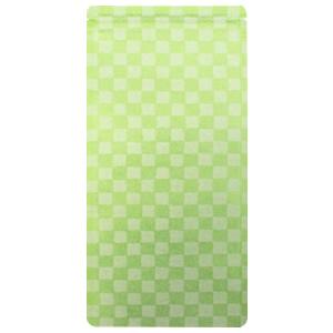 85〜100gチャック付市松和紙平袋 緑