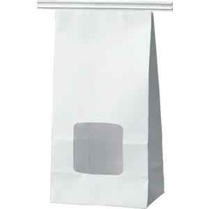 ワイヤー付角底袋 白 窓付 90×55×170