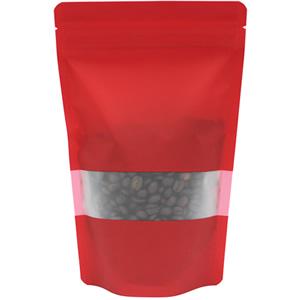 チャック付透明スタンド袋 赤 窓付140×220