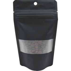 チャック付透明袋 黒 窓付穴あき 110×180