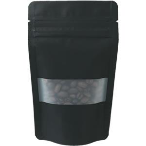 チャック付透明スタンド袋 黒 窓付 90×145