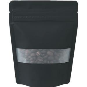 チャック付透明スタンド袋 黒 窓付120×150