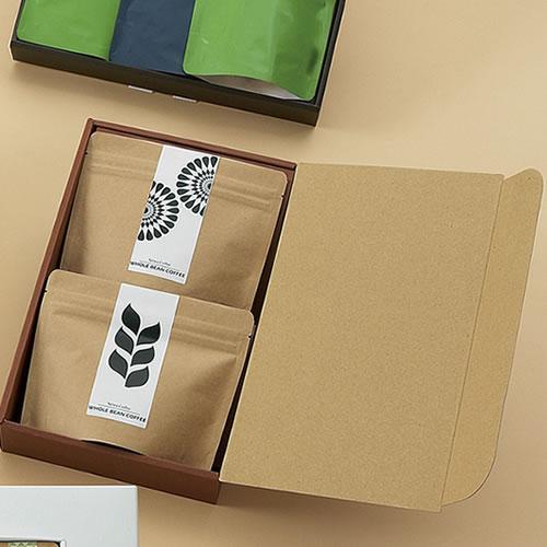 コーヒーのクラフト袋ギフトパッケージ
