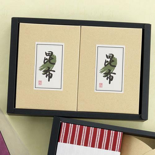 干し椎茸と昆布の贈答ギフトパッケージ