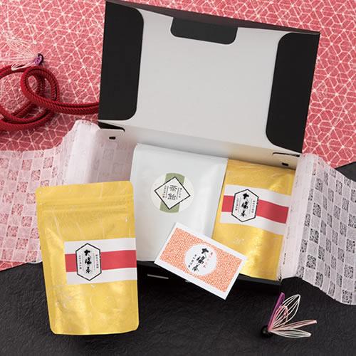 金の大福茶ギフトボックスパッケージ