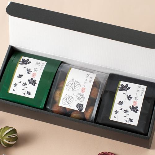 お茶と菓子のパッケージデザイン