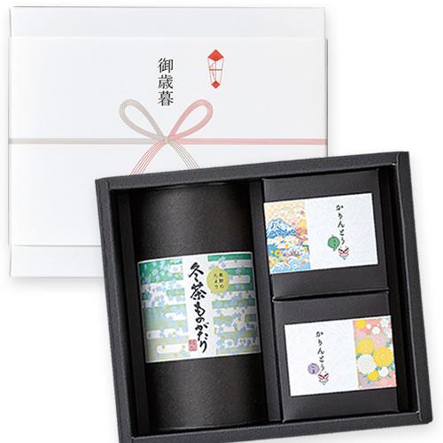 和風なお茶と菓子セットのお正月ギフト
