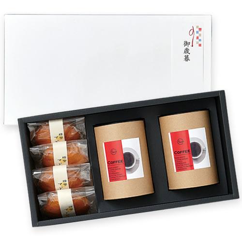 シンプルなコーヒー菓子セットのお正月ギフト