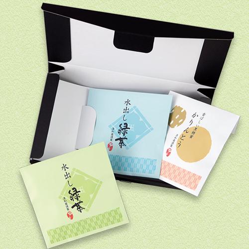 和風なお茶と菓子セットの夏ギフト