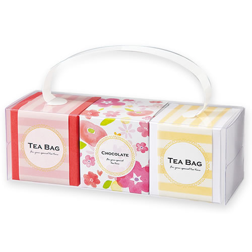 カジュアルな紅茶菓子セットのプチギフト