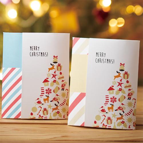 カジュアルな紅茶・ハーブティのクリスマスラッピング
