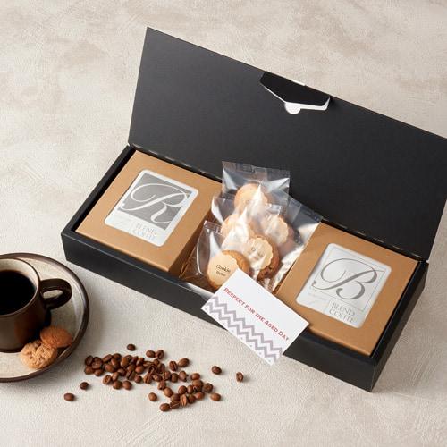カジュアルなコーヒー菓子セットの敬老ギフト