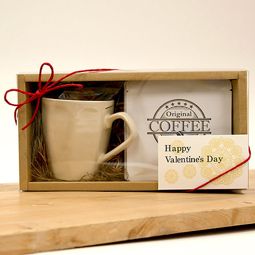 ナチュラルなコーヒー菓子セットのバレンタイン