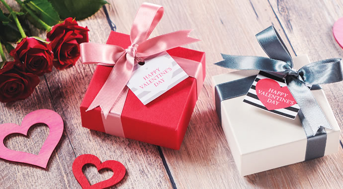 バレンタイン ラッピング 貼り箱