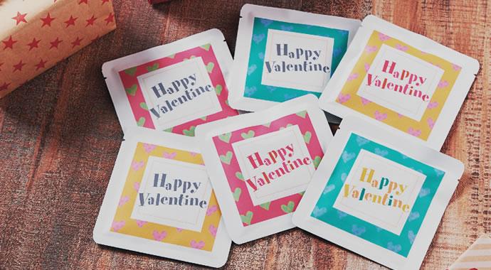 バレンタイン ラッピング 三方袋