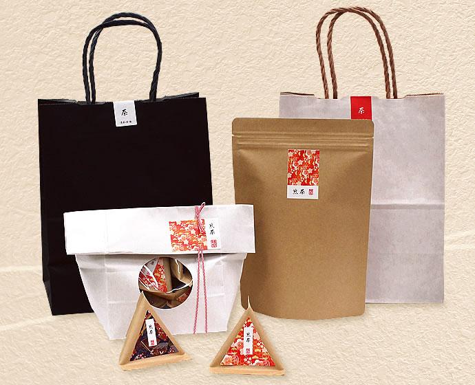 日本茶パッケージの一例