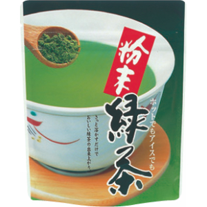 40gチャック付スタンド袋 粉末緑茶