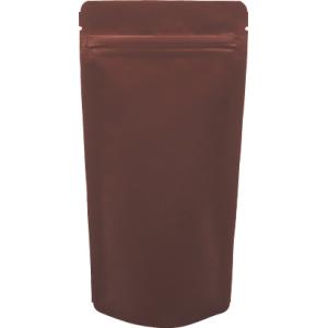 チャック付ALスタンド袋 茶110×230