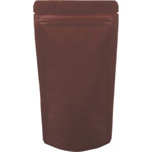 チャック付ALスタンド袋 茶120×230