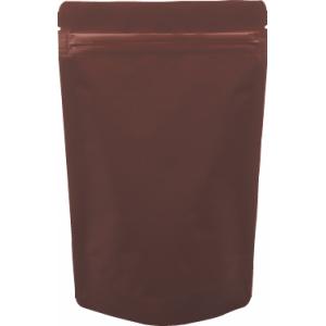 チャック付ALスタンド袋 茶140×230