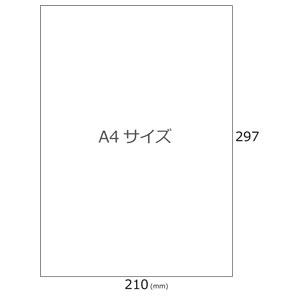 光沢無地シール(ノーカット30シート)A4