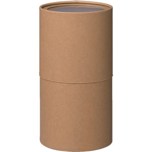 紙管 クラフト フィルム窓付 100×180