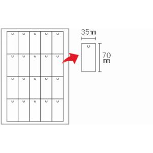 無地カード切込付(20面×10シート)A4