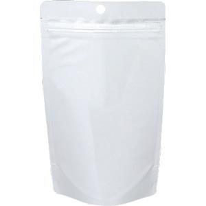 チャック付ALスタンド袋白穴あき120×210