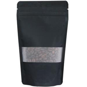 チャック付透明スタンド袋 黒 窓付120×200