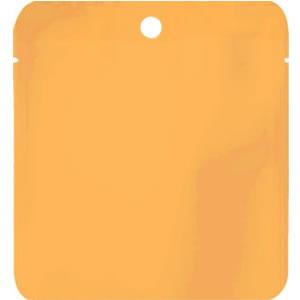 蒸着三方天シール袋オレンジ穴あき110×125