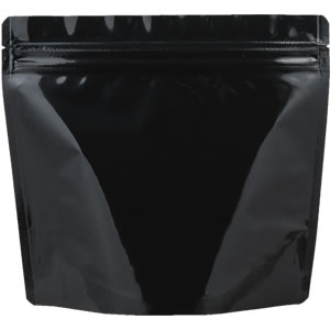 チャック付ALスタンド袋 黒 210×190