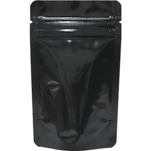 底透明チャック付スタンド袋 黒 90×145